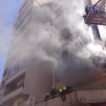 Blaze being extinguished