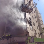 3 firetrucks were used